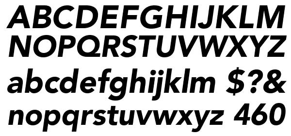 AvenirLTStd-BlackOblique Font