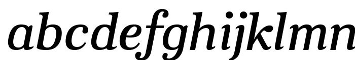 Aver Regular Italic Font LOWERCASE