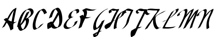 Avocado Font UPPERCASE