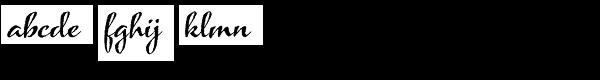 Azalea Rough Font LOWERCASE