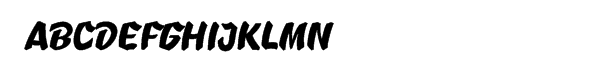 B-Movie™ Retro Catchwords Font UPPERCASE