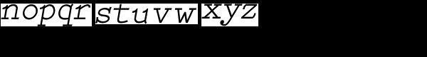 Babbage Bold Italic Font LOWERCASE