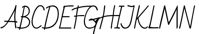 Bad Script Regular Font UPPERCASE