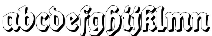 Ballade Shadow Font LOWERCASE