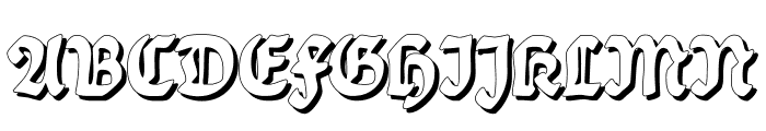 BalladeShadow Font UPPERCASE