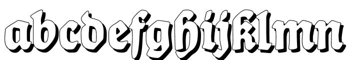 BalladeShadow Font LOWERCASE