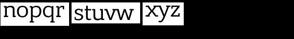 Bandera Pro Font LOWERCASE