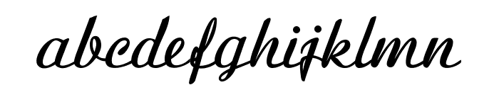 BanksScript-Bold Font LOWERCASE