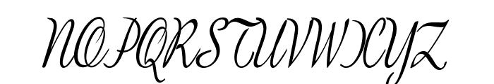 BanksScript-CondensedItalic Font UPPERCASE