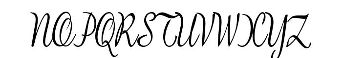 BanksScript-CondensedRegular Font UPPERCASE