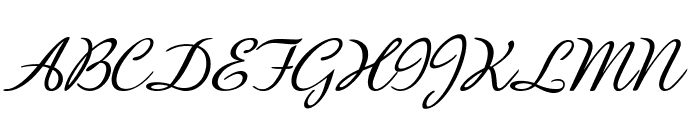 BanksScript-Italic Font UPPERCASE