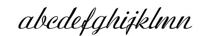 BanksScript-Italic Font LOWERCASE