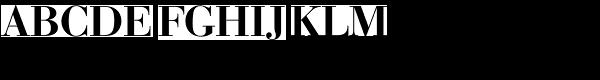 Bauer Bodoni EF Medium SC Font UPPERCASE