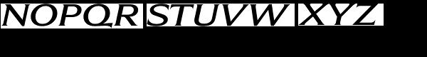 Beaufort Extended Medium Italic Font UPPERCASE