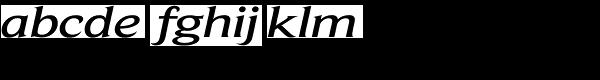 Beaufort Extended Medium Italic Font LOWERCASE
