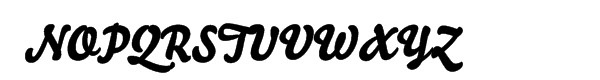 Bello script Font UPPERCASE