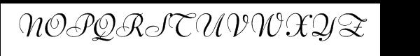 Bernhard Script Regular Font UPPERCASE