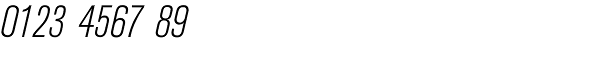 Berthold Akzidenz-Grotesk Light Condensed Italic Font OTHER CHARS