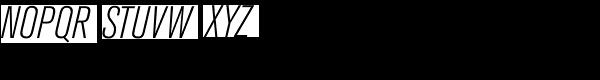 Berthold Akzidenz-Grotesk Light Condensed Italic Font UPPERCASE