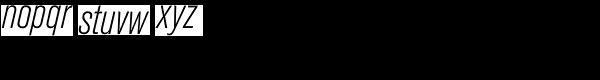 Berthold Akzidenz-Grotesk Light Condensed Italic Font LOWERCASE