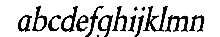 Berylium Bold Italic Font LOWERCASE