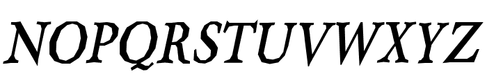Berylium-BoldItalic Font UPPERCASE