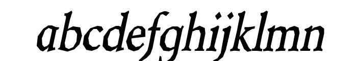 Berylium-BoldItalic Font LOWERCASE