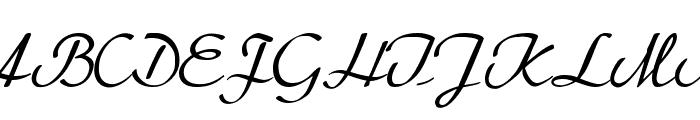BetterHeatherRegular Font UPPERCASE