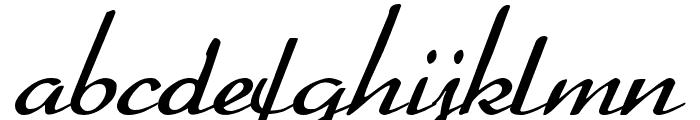 BetterHeatherRegular Font LOWERCASE