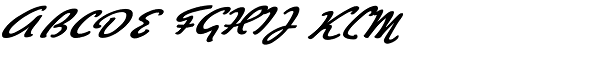 Big Brush One Font UPPERCASE