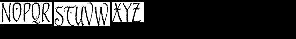 Blackstone Font UPPERCASE