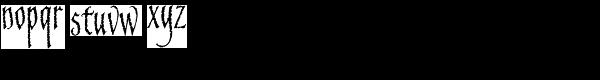 Blackstone Font LOWERCASE