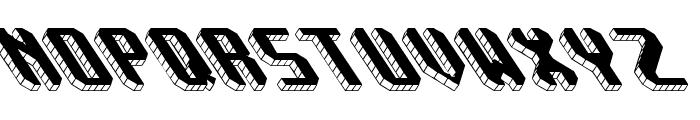 Block Tilt BRK Font UPPERCASE