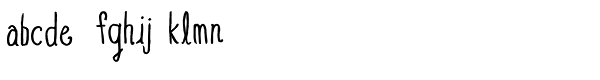 Blue Goblet Drawn Condensed Regular Font LOWERCASE
