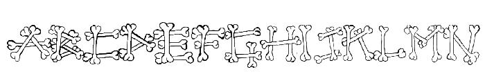 Bones2 Font UPPERCASE
