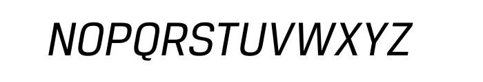 Breuer Text Regular Italic Font UPPERCASE