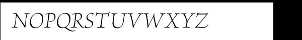 Brioso Pro Light Italic Subhead Font UPPERCASE