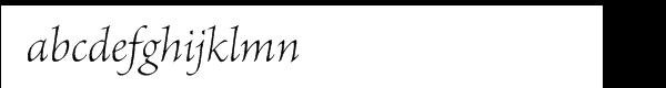 Brioso Pro Light Italic Subhead Font LOWERCASE