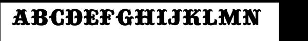 Buckhorn Font UPPERCASE