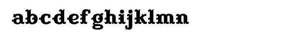 Buckhorn Font LOWERCASE