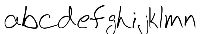 BudHand Regular Font LOWERCASE
