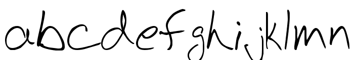 BudHand Font LOWERCASE