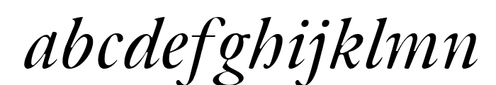 Bulgarian Garamond Italic Font LOWERCASE