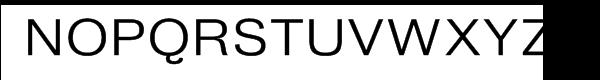 Bureau Grot Wide Light Font UPPERCASE