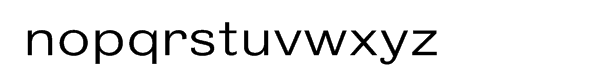 Bureau Grot Wide Light Font LOWERCASE