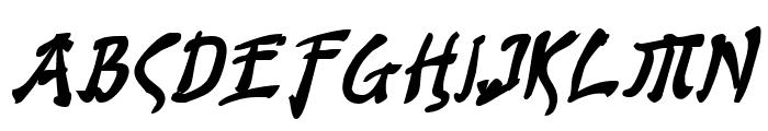 Bushido Bold Italic Font UPPERCASE