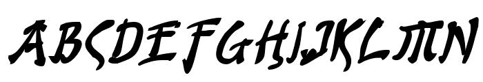 Bushido Bold Italic Font LOWERCASE