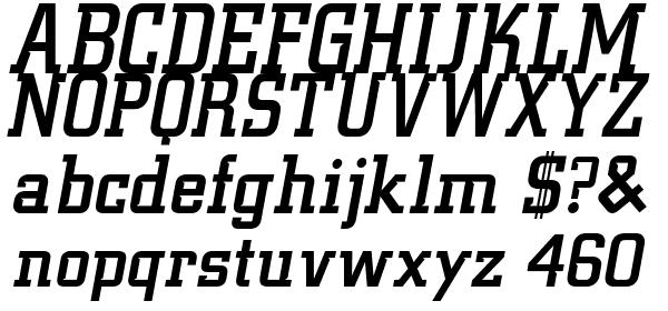 BU Tiger Claw Attack Font