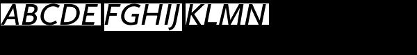 Calluna Sans Semibold Italic Font UPPERCASE
