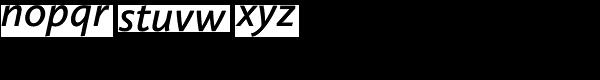 Calluna Sans Semibold Italic Font LOWERCASE